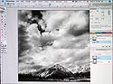 using Photoshop to adjust a landscape image contrast