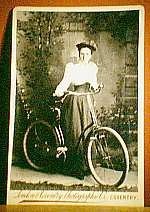 girl with her safety bike