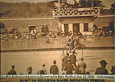 Sep 1888 high wheeler race - racers are sharp