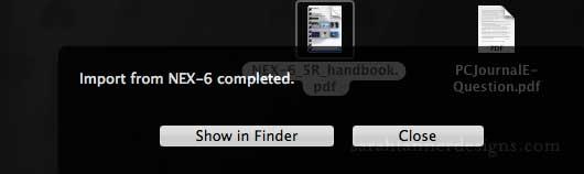 WAI Monitor Window after finishing an upload.