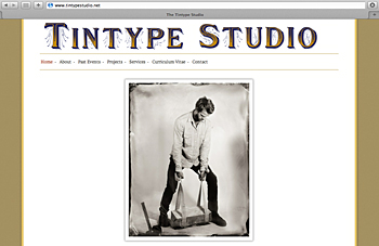 The new nome of the Tintype Studio's web site