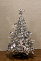 Mark Singer's Silver Christmas Tree, an annual feature of our December meetings.