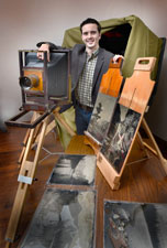 Blake and his tintypes - portrait by Robert Lansdale