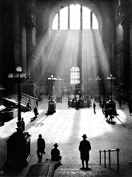c1924 Penn Station in NYC by Joseph Ruzicka. From an original silver based print.
