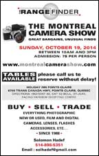 Montreal Camera Show this Sunday, October 19, 2014