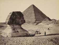 The Sphinx and Great Pyramid by Francis Bedford