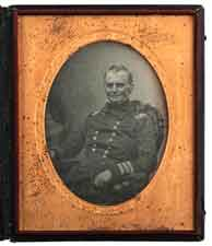 A Full Plate Daguerreotype of Commodore Chas, Morris