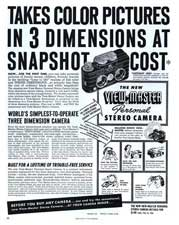 Oct 1950 HOLIDAY magazine ad for a V-M Camera