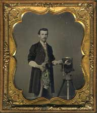 Tintype - Photographer with his camera.