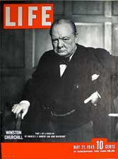 Churchill by Karsh - Life Magazine cover MAy21 1945.
