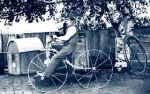 John Morrison Taylor on his bicycle